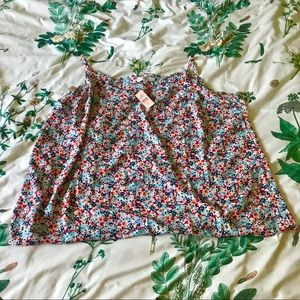 Floral Ruffled Swing Camisole - Never Worn/Tags On